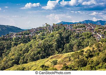 salamina, cityscape, skyline, caldas, kolumbien, caldas, kolumbien
