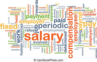 Background concept wordcloud illustration of salary