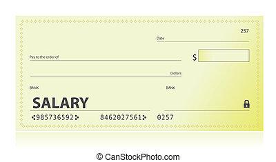 Salary check illustration design