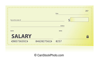 Salary check illustration design