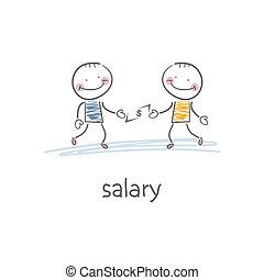 Salary. Illustration