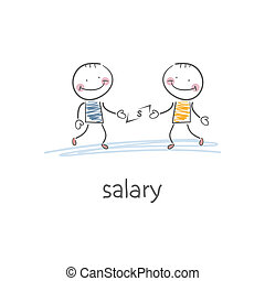 salary., illustrazione