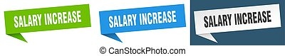 salary increase banner sign. salary increase speech bubble ...