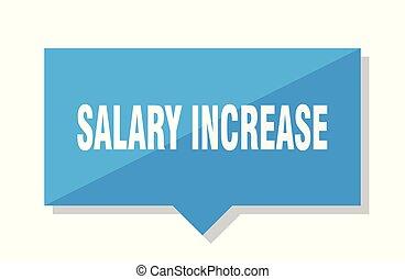 salary increase price tag - salary increase blue square...