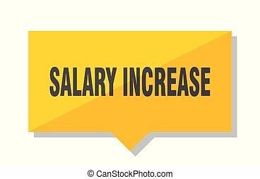 salary increase price tag - salary increase yellow square...