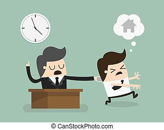 Salary man working overtime, Overload