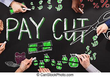 Salary Paycut On Blackboard