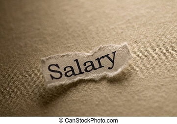 Salary - Picture of a word salary.