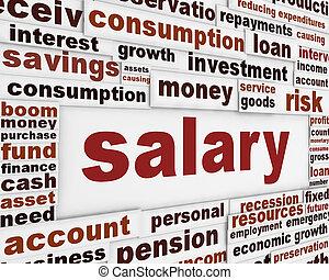 Salary poster design