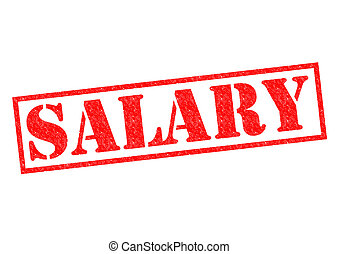 SALARY red Rubber Stamp over a white background.