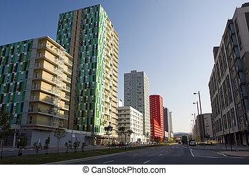 Salburua ist the new residencial neighborhood at Vitoria
