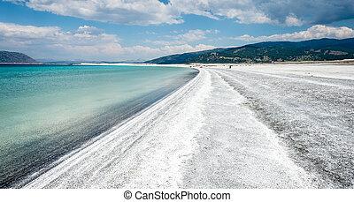 Salda Lake at Burdur, Turkey.