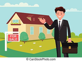 sale., לקנות, חדש, home., סוכן מקרקעין, דיר, מראה