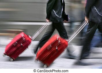 sale., 人々, ∥で∥, スーツケース, 中に, a, hurry.