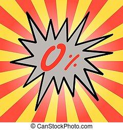 Sale 0% text