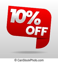 Sale 10% off. Discount or special offer. Advertising campaign.