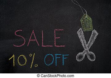 Sale 10% off on chalkboard