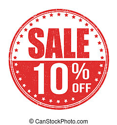 Sale 10% off stamp