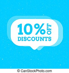 Sale 10 percent off badge. Discount banner shape. Modern concept design. Banner with offer badge. Vector