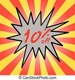 Sale 10% text