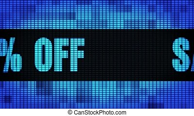 Sale 15% Percent Off Front Text Scrolling LED Wall Pannel...