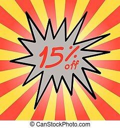 Sale 15% text