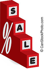 3d letters show as a stepping stone cubes for sale
