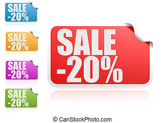 Sale 20% label set