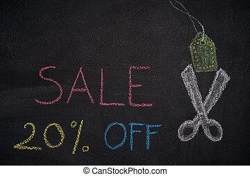 Sale 20% off on chalkboard