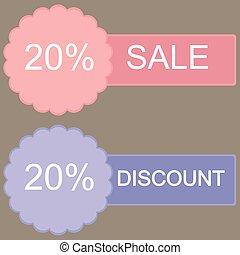 Sale 20 percent off banner design