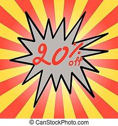 Sale 20% text
