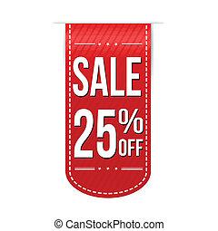 Sale 25% off banner design