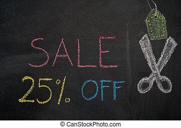 Sale 25% off on chalkboard