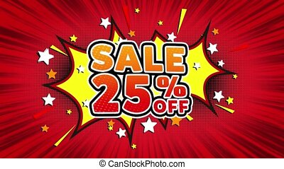 Sale 25 OffWord Retro Cartoon Comic Bubbles Seamless loop -...