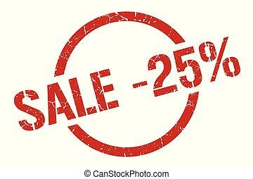 sale -25% stamp