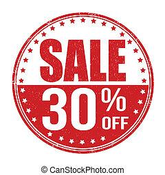Sale 30% off stamp
