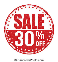 Sale 30% off stamp