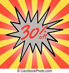 Sale 30% text