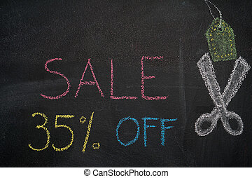 Sale 35% off on chalkboard