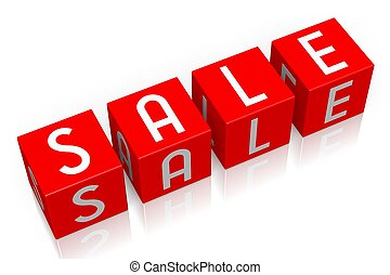 Sale - 3D cube word