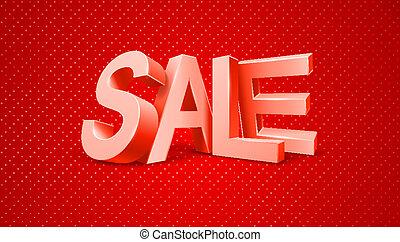 Sale 3d text message
