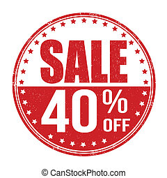 Sale 40% off stamp