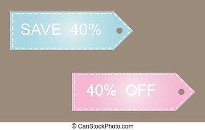 Sale 40% off, vector illustration