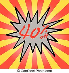 Sale 40% text