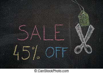 Sale 45% off on chalkboard