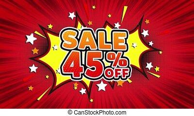 Sale 45% Off Word Retro Cartoon Comic Bubbles Seamless loop...