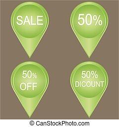 Sale 50% green Label