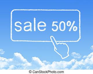 sale 50% message cloud shape