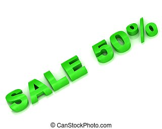 Sale 50 percent discount