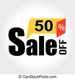 Sale 50 Percent off Banner. Vector illustration